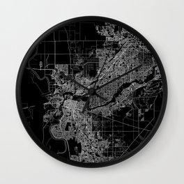 sacramento map Wall Clock