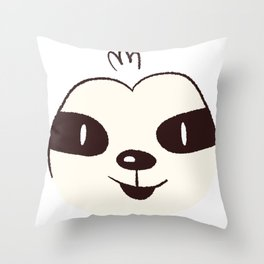 Sloth Face Throw Pillow