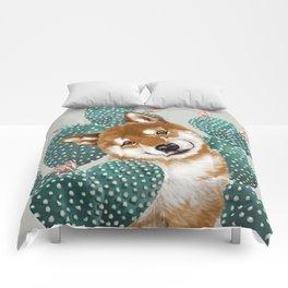 Shiba Inu and Cactus Comforters