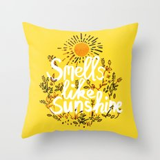Smells Like Sunshine Throw Pillow