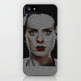 The Bride of Frankenstein Screenplay Print iPhone Case