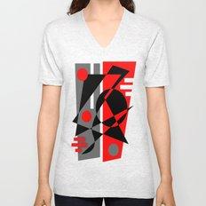 Abstract #353 Unisex V-Neck