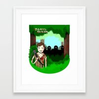 daryl dixon Framed Art Prints featuring Daryl Dixon by Dan Solo Galleries