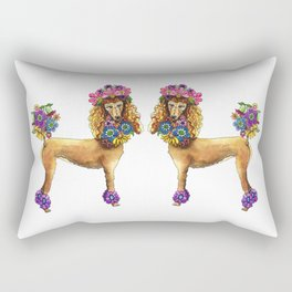 Poodle Dee Doo Rectangular Pillow