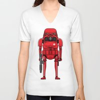 marijuana V-neck T-shirts featuring Marijuana trooper by kakin