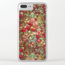 Vintage Floral Chinz Pattern Clear iPhone Case