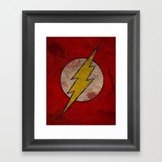 Remember The Flash Framed Art Print