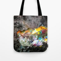 leopard Tote Bags featuring LEOPARD by sametsevincer