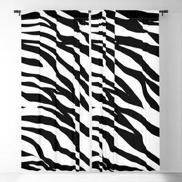 modern safari animal print black and white zebra stripes Blackout Curtain