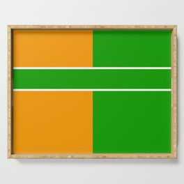 Team Color 6...green,orange Serving Tray