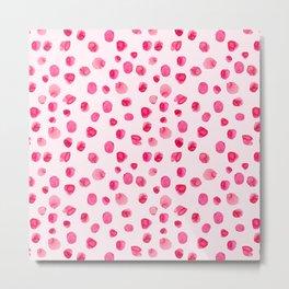 Think pink || Watercolor brushstrokes pattern Metal Print