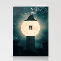 dark tower Stationery Cards featuring The Moon Tower by Paula Belle Flores