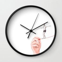 It's a Thin Line by Lars Furtwaengler | Colored Pencil | 2012 Wall Clock
