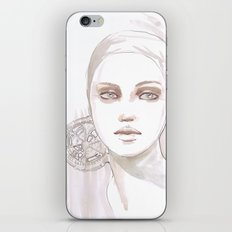 Fade fashion illustration portrait iPhone & iPod Skin