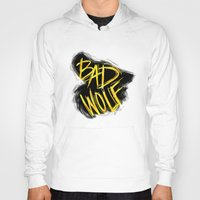 bad wolf Hoodies featuring BAD WOLF by Amanda Steuck