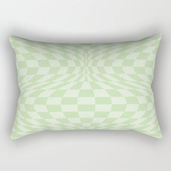 Greens - Optical Game 25 Rectangular Pillow