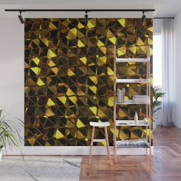 Golden Polygons 02 Wall Mural