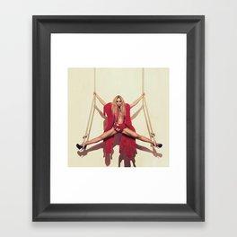 Bey 4 Rope Shoot Framed Art Print
