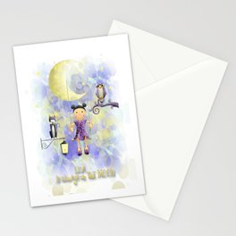 On the moon. Stationery Cards