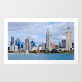 Sail On San Diego Bay Art Print