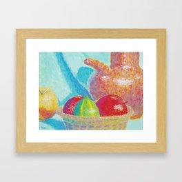 Corbeille de fruits Framed Art Print