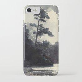 Adirondack Lake by Winslow Ho mer (1889) iPhone Case