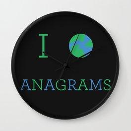 I heart Anagrams Wall Clock