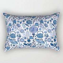 Chinoiserie Tea in the Garden Rectangular Pillow