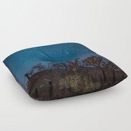 Midnight Stars at Joshua Tree Floor Pillow