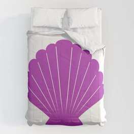 Seashell (Purple & White) Comforters