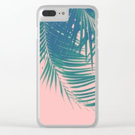 Palm Leaves Blush Summer Vibes #2 #tropical #decor #art #society6 Clear iPhone Case