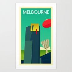 Melbourne - Vintage Retro Art Print