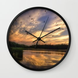 Coming in to Roost Wall Clock