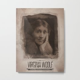 Virginia Woolf Metal Print