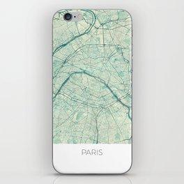 Paris Map Blue Vintage iPhone Skin