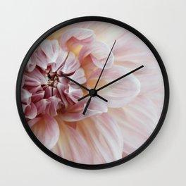 Blush Pink Dahlia, No. 1 Wall Clock