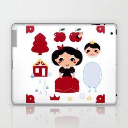 Beautiful and adorable snow white set Laptop & iPad Skin