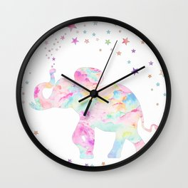 MAKE ME HAPPY ELEPHANT  Wall Clock