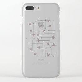 Lines & Arrows Clear iPhone Case