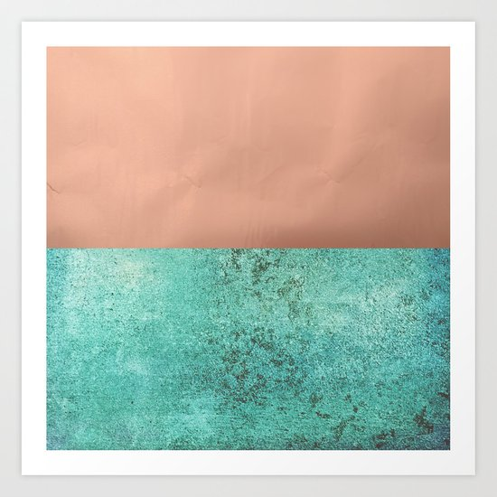 NEW EMOTIONS - ROSE & TEAL Art Print