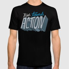 Action Black Mens Fitted Tee MEDIUM