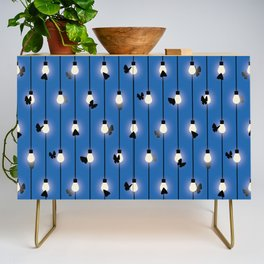 Moths on Fairy Lights Credenza