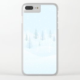 Frosty Forest Winter Morning Clear iPhone Case