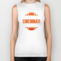 cincinnati Biker Tanks featuring Its A Cincinnati Thing by Jacob Tyler FX
