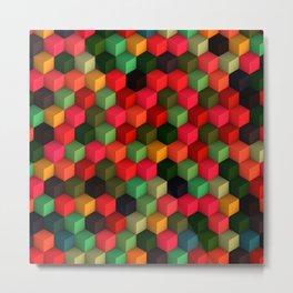 3D Cubes  Metal Print