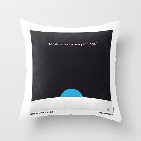 No151 My Apollo 13 minimal movie poster Throw Pillow