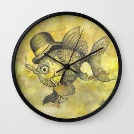 Bad Ass Goldfish Wall Clock