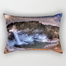 Waterfall from sky view Rectangular Pillow