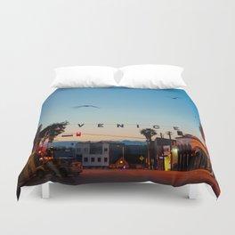 Venice Beach California Sunrise Duvet Cover