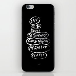 POSITIVE PEOPLE SURROUND SYSTEM iPhone Skin